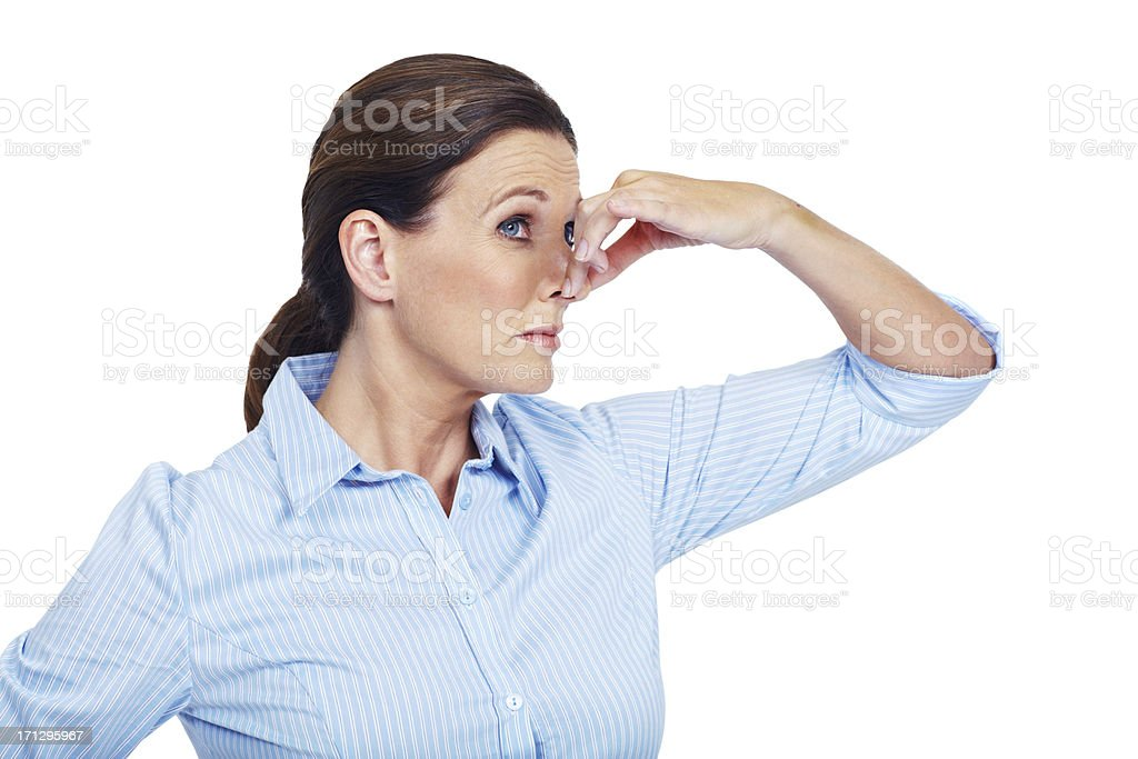 Wow, that doesn't smell too good stock photo
