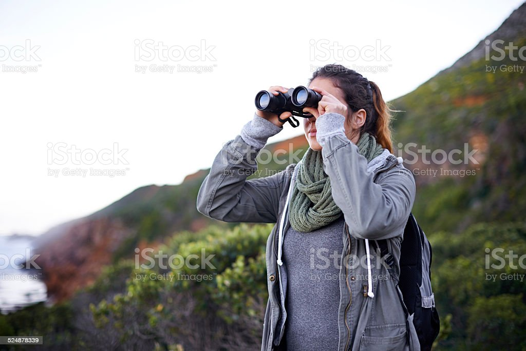 Wow! The view's amazing... stock photo