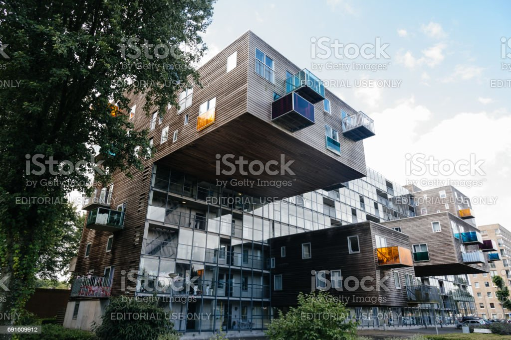 WoZoCo is a project by MVRDV architects to provide 100, one-bedroom dwellings for seniors in Amsterdam. stock photo