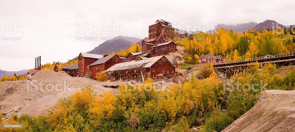 Wrangell St Elias Kennecott Mines Concentration Mill Alaska Wild stock photo
