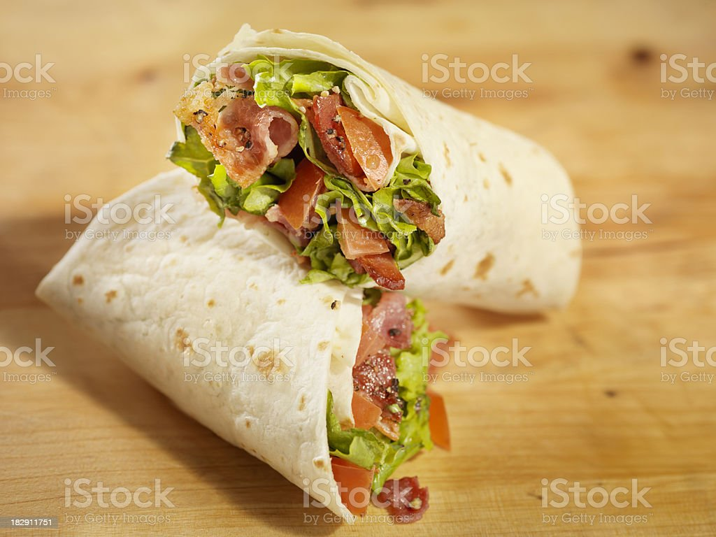 BLT Wrap Sandwich stock photo
