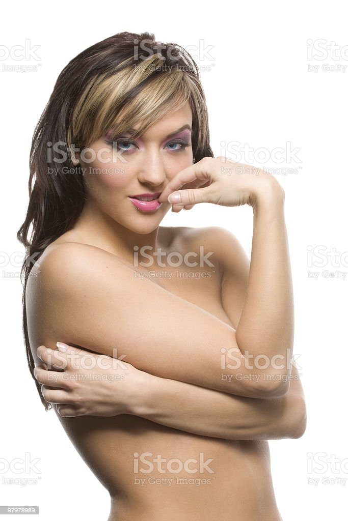 Wrapped beauty royalty-free stock photo