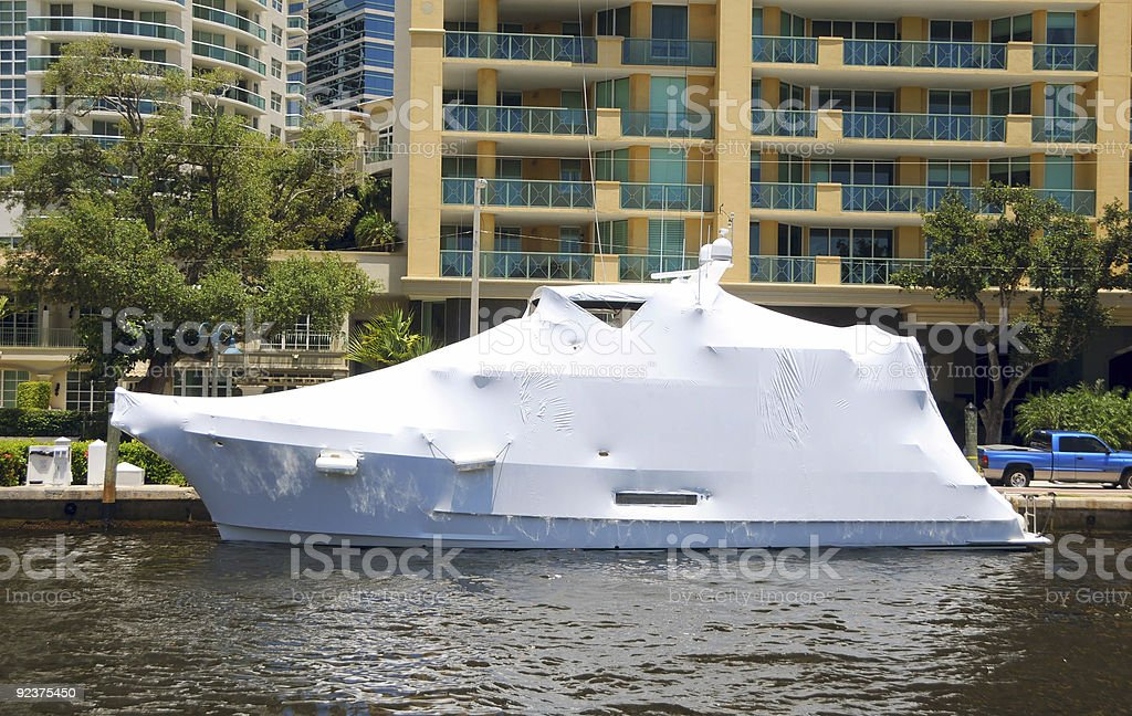 Wrapped boat royalty-free stock photo