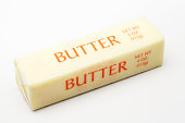 Stick of butter in paper wrapping