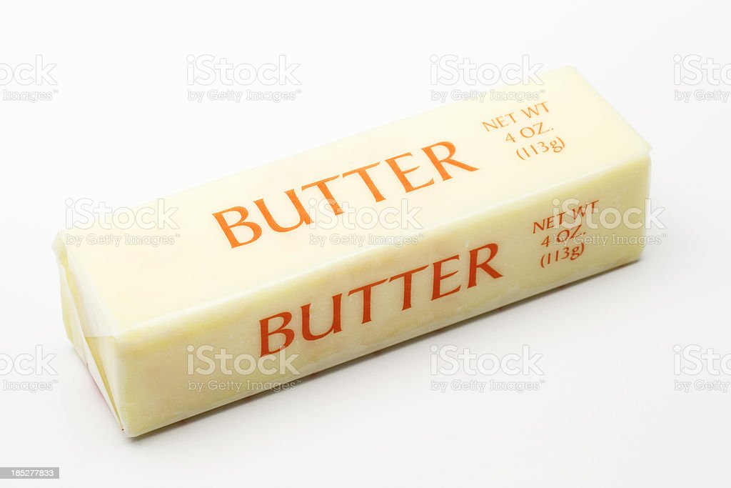 Wrapped Butter Stick stock photo