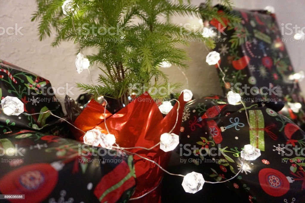 Wrapped Christmas Presents stock photo