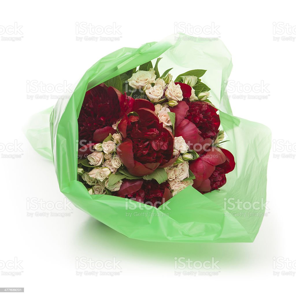 Wrapped Flowers Stock Photo More Pictures Of Bouquet Istock