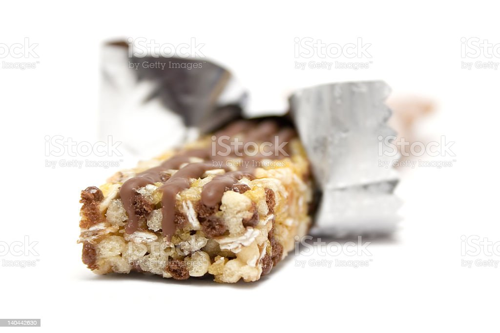 Wrapped Granola Bar stock photo