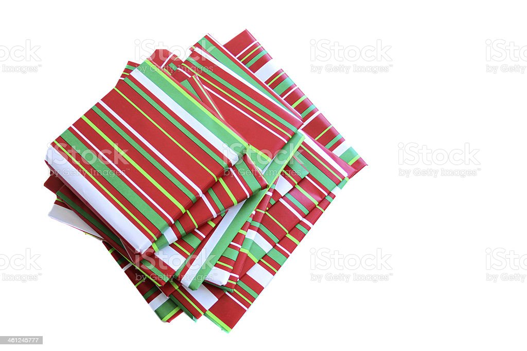 Wrapped Presents, Books royalty-free stock photo