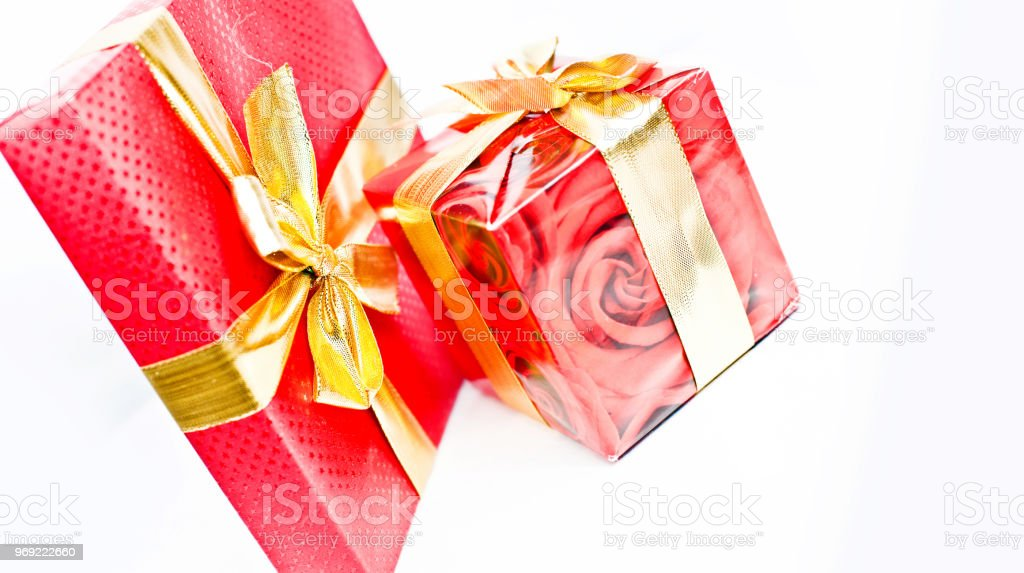 Wrapped Red Boxes Stock Photo More Pictures Of Birthday Istock