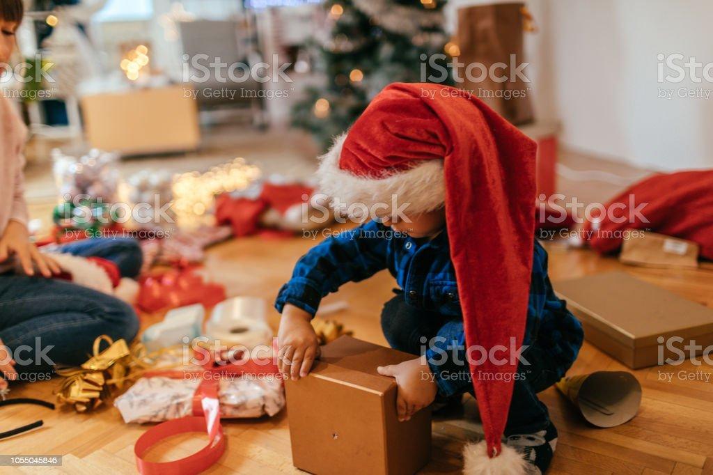 Geschenkpapier Weihnachten präsentiert – Foto
