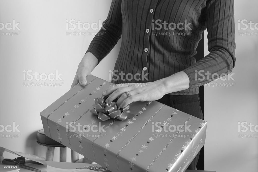 Wrapping Gift royalty-free stock photo