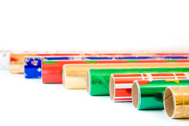 wrapping paper - tube stock photos and pictures