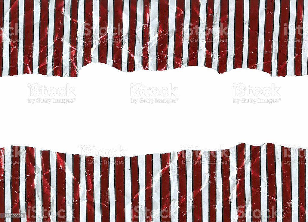 Wrapping Paper - Torn and Wrinkled stock photo