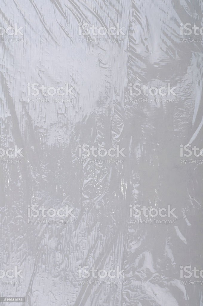Wrapping plastic stretch film background stock photo