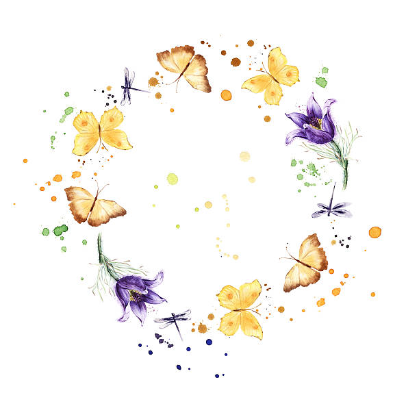 Wreath border frame with butterflies flowers watercolor picture id472305278?b=1&k=6&m=472305278&s=612x612&w=0&h=aot zjbght0jpvgjhzvmrjc72giuv8xgg0pyhm246vw=