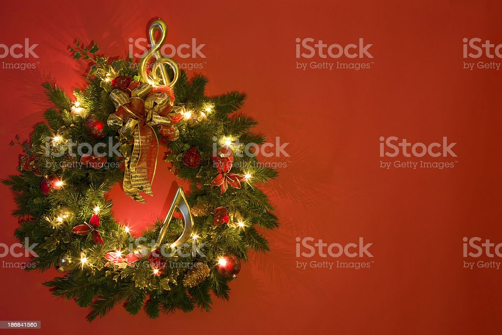 Wreath Isolated on Red royalty-free stock photo