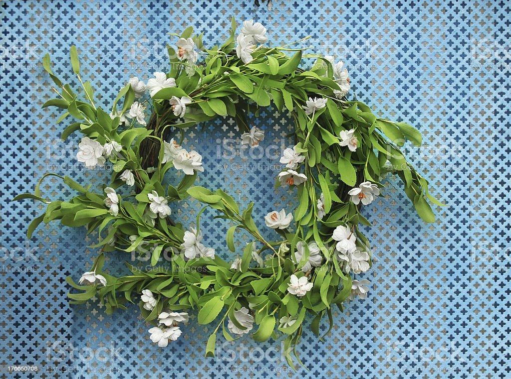 Corona de flores foto de stock libre de derechos