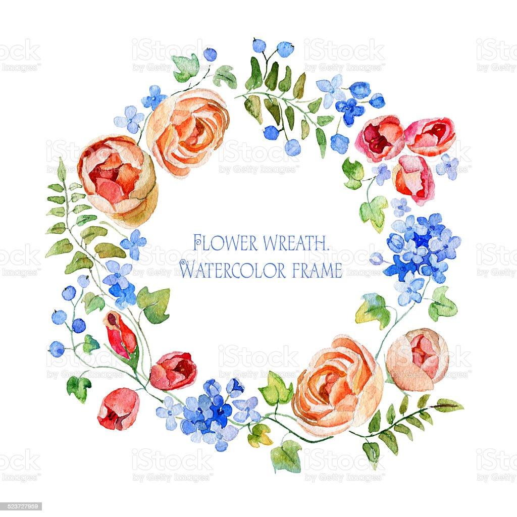 Венок цветочный рисунок
