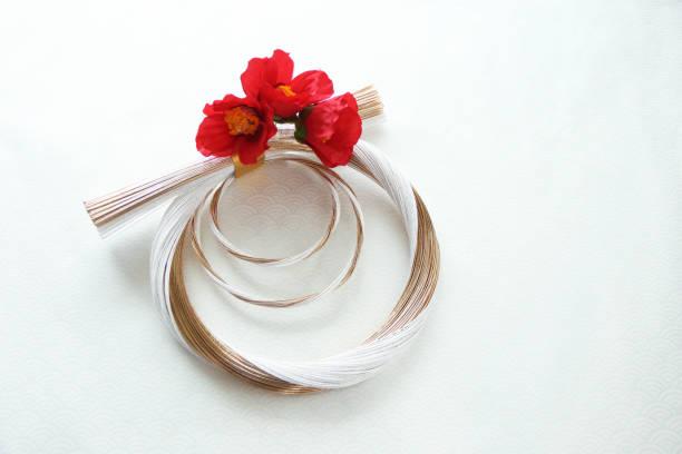 wreath of mizuhiki - мидзухики стоковые фото и изображения