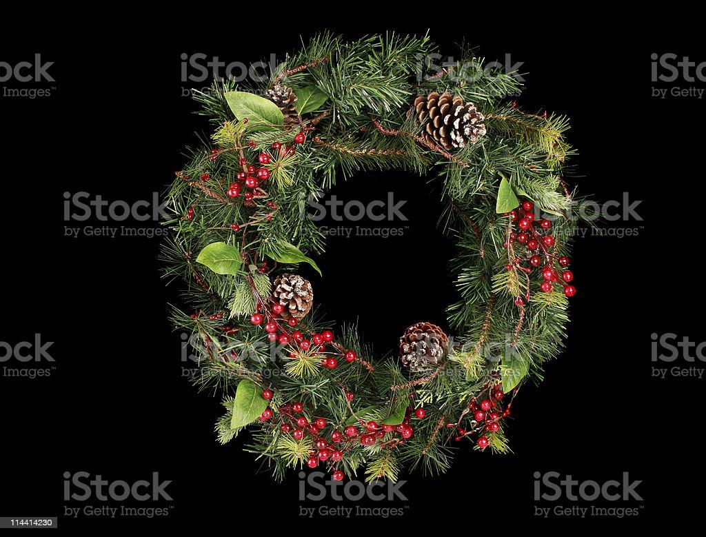 wreath on black royalty-free stock photo