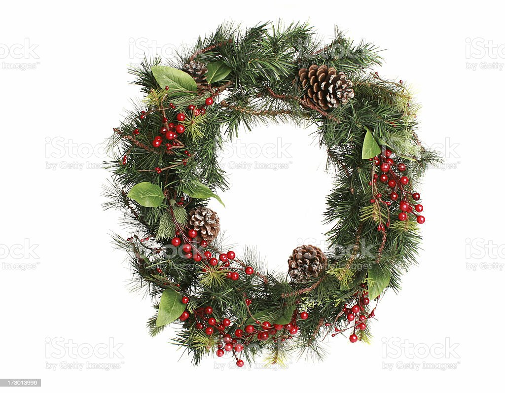 wreath on white stock photo