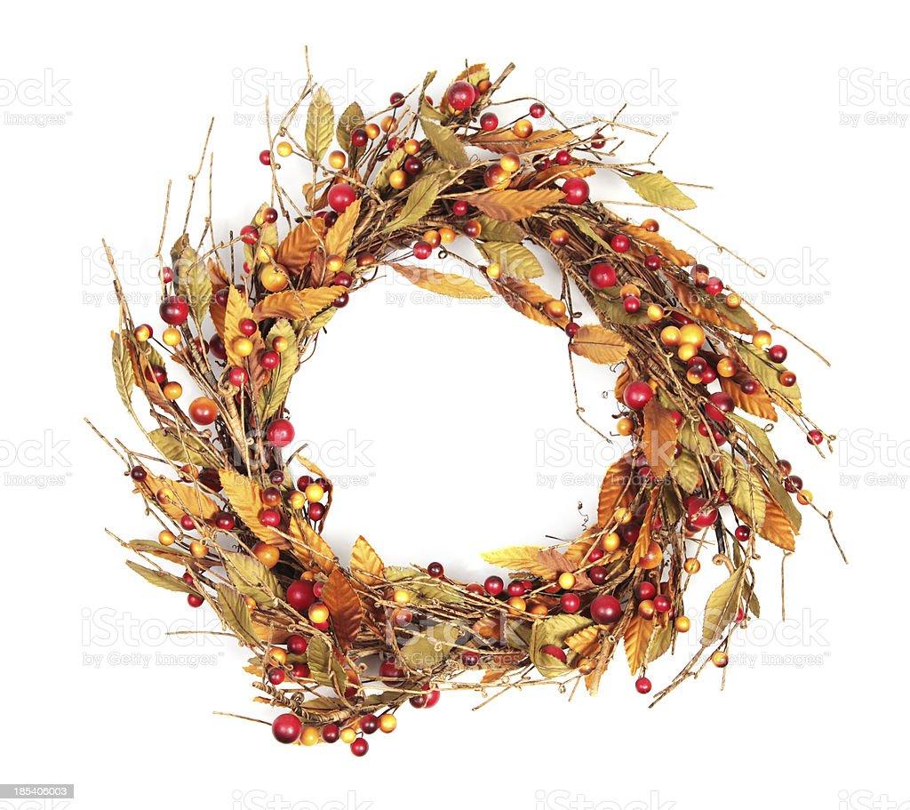 Wreath on White stock photo