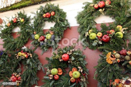 Wreath Display in Colonial Williamsburg