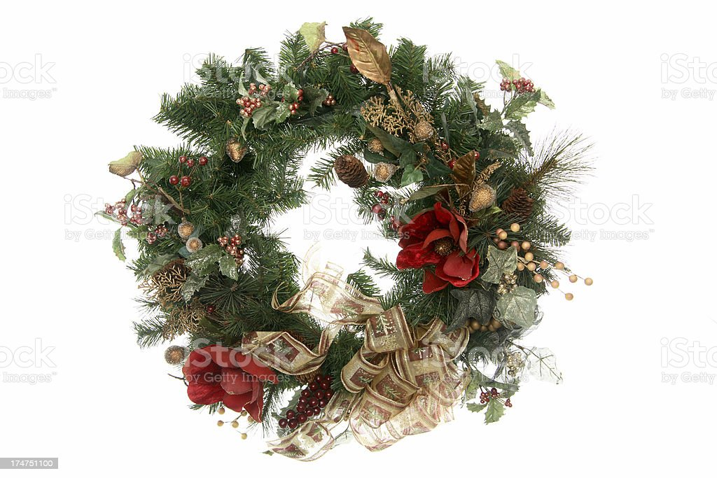 Wreath series: Gold bow. royalty-free stock photo