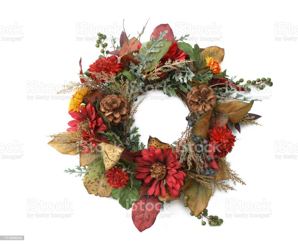 Wreath Series (on a white background) royalty-free stock photo