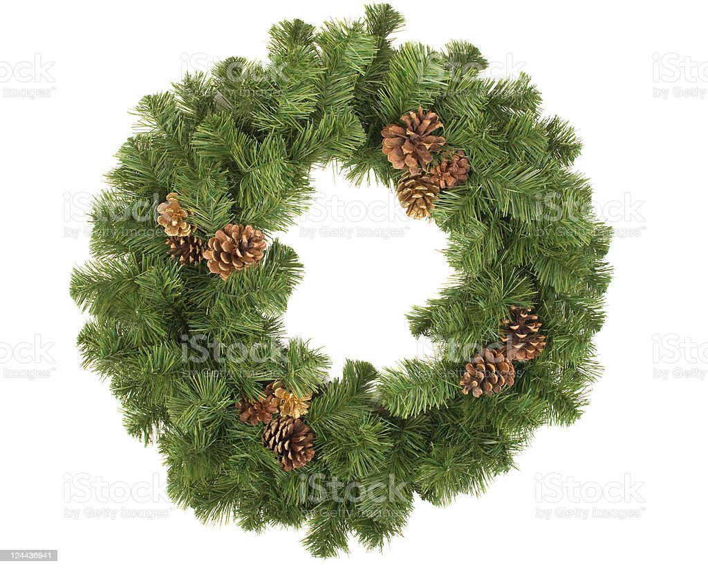Wreath with pine cones royalty-free stock photo
