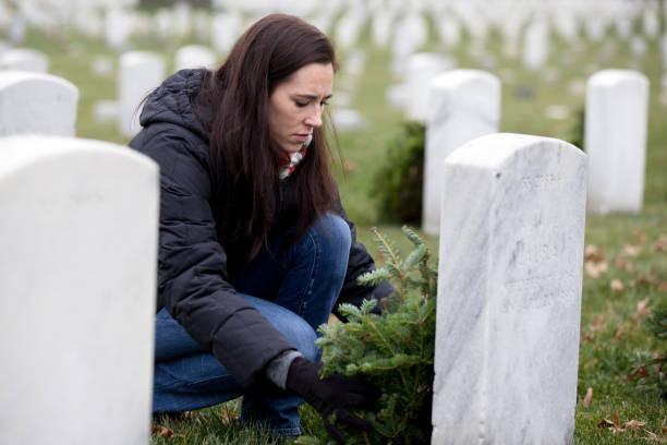 Wreaths across America stock photo