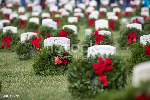 Wreaths laid over veteran's graves as part of the annual Wreaths Over America celebration.