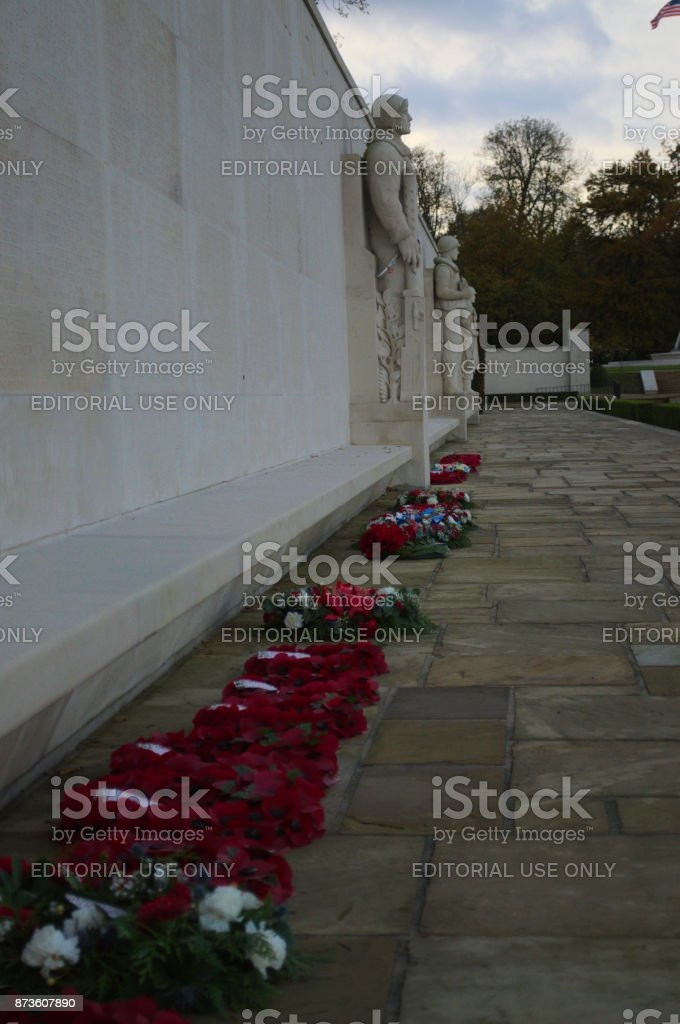 Wreaths for Rememberence stock photo