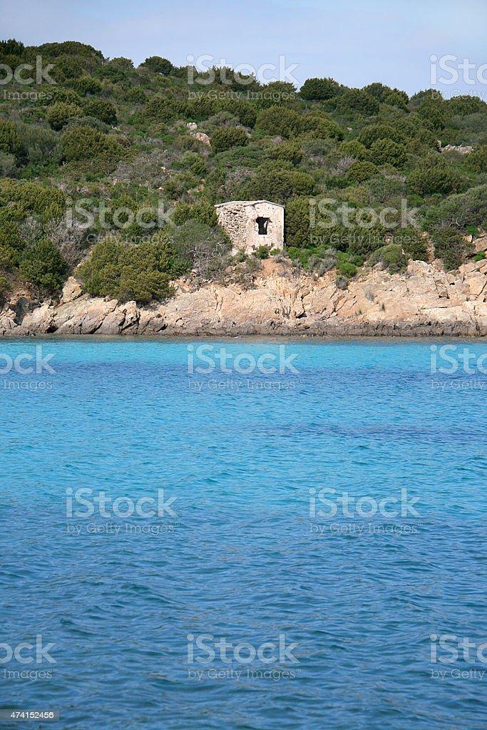 Wreck beach. Caprera island. Sardinia (Italy) stock photo