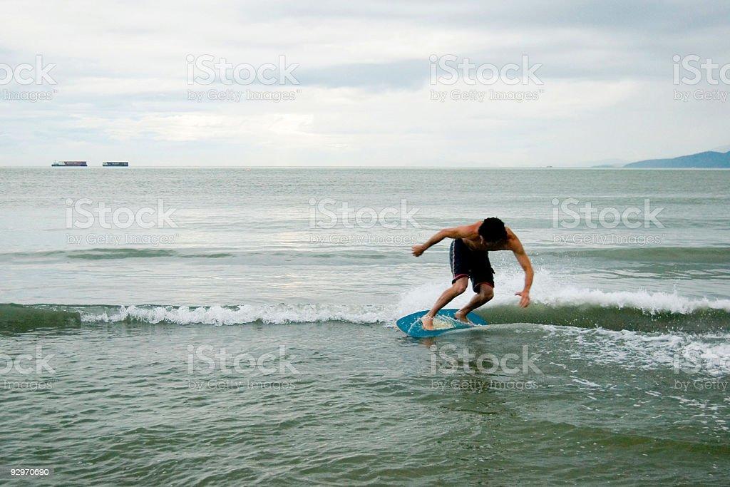 Wreck Beach Skimboarding stock photo