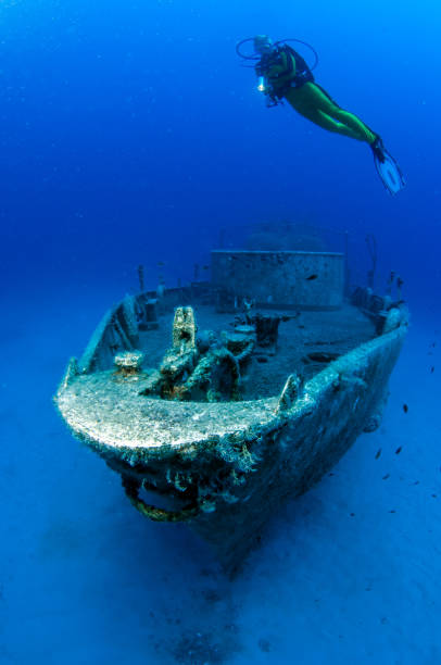 wreck diving at kas, turkey - wreck diving stock pictures, royalty-free photos & images