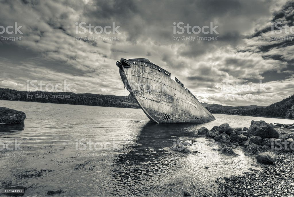 Wreck HDR stock photo