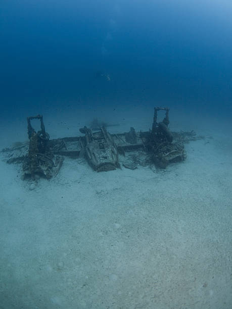 wreck of a blenheim bomber in Malta stock photo