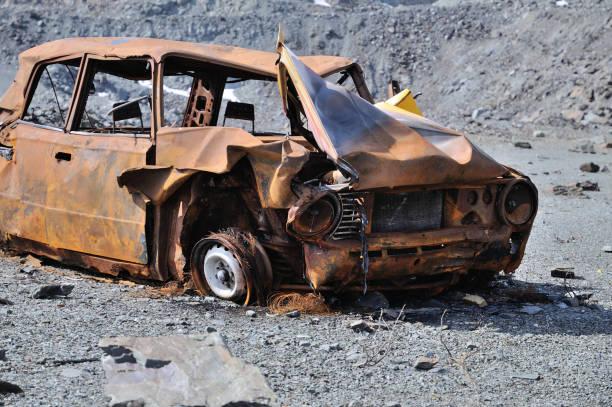 Wrack eines alten Autos – Foto