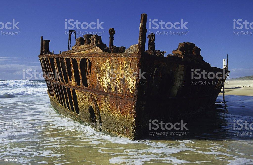 Wreck of the Maheno royalty-free stock photo