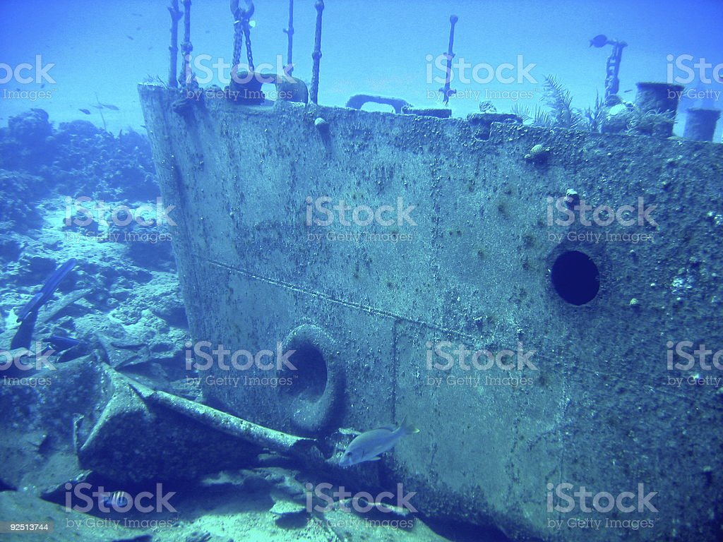Wreck of the Oro Verde royalty-free stock photo