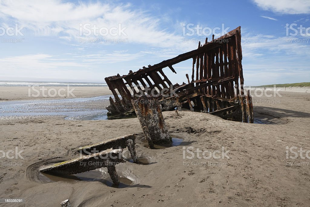 wreck of the peter iredale stock photo