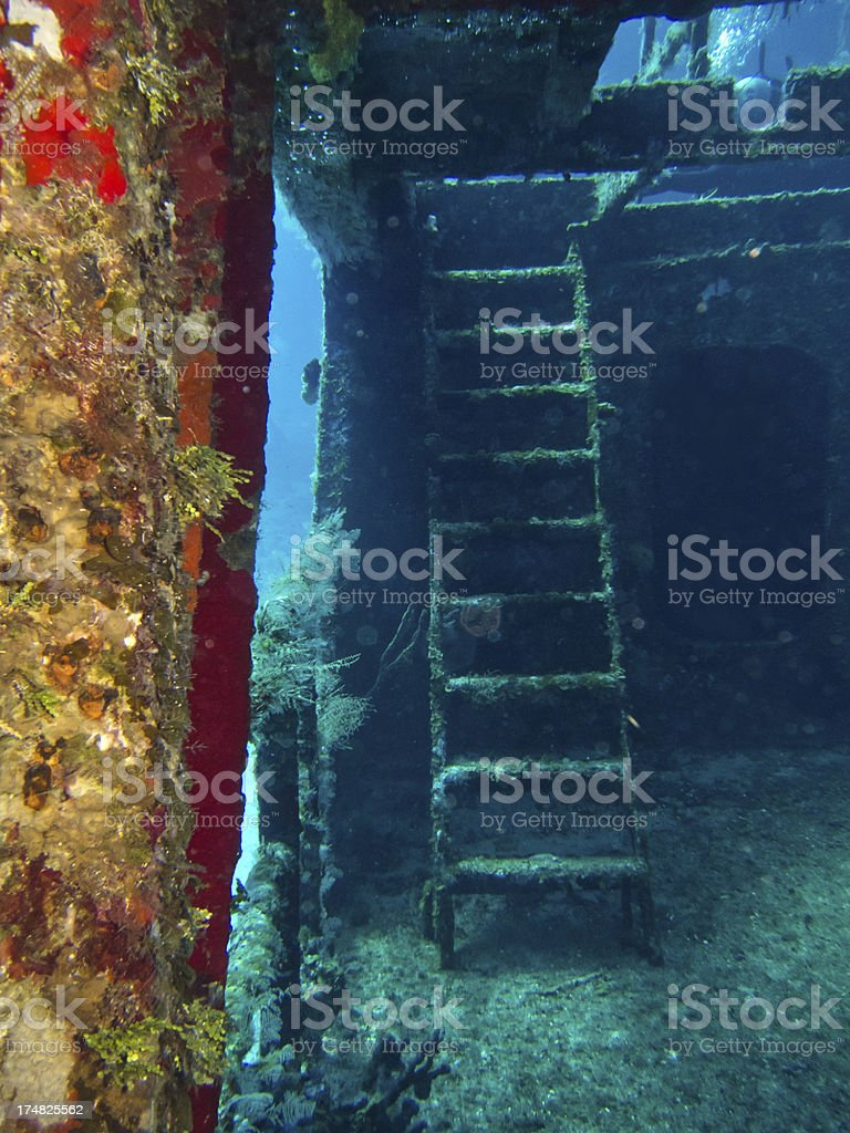 C-53 Wreck Steps royalty-free stock photo