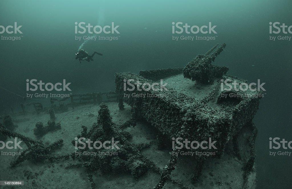 Wreck 'Varna' royalty-free stock photo