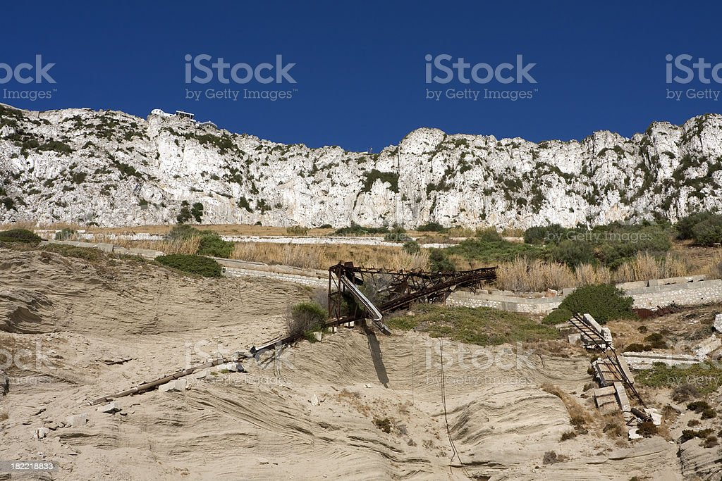 Wreckage at the bottom of a mountain royalty-free stock photo