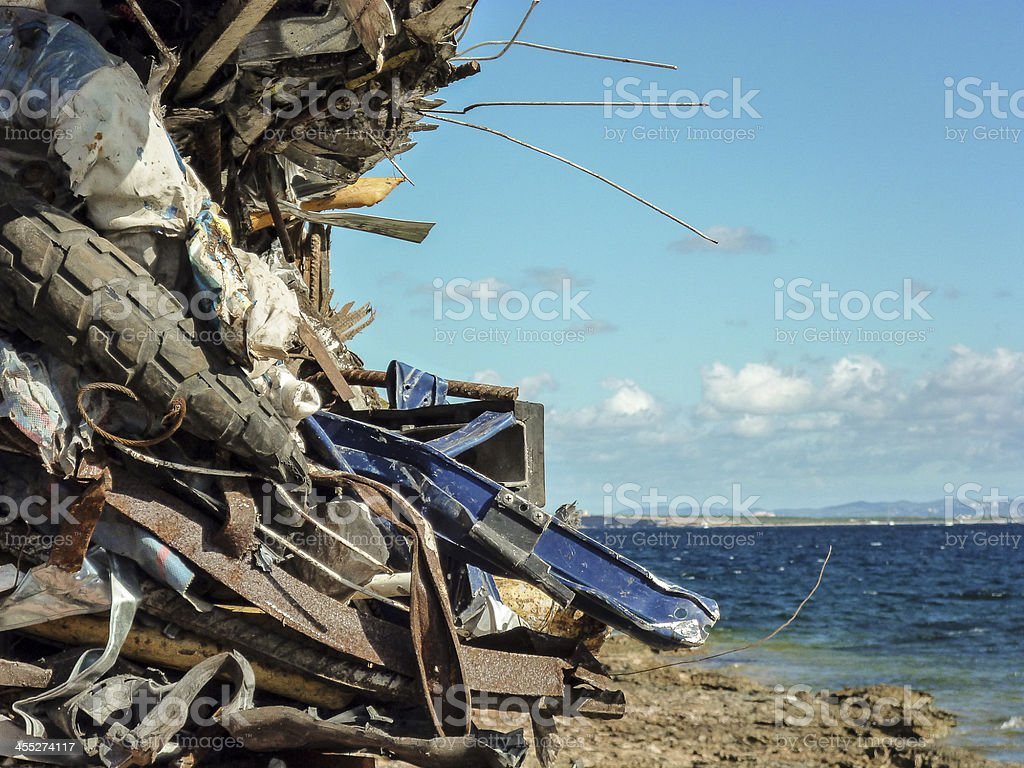wreckage stock photo
