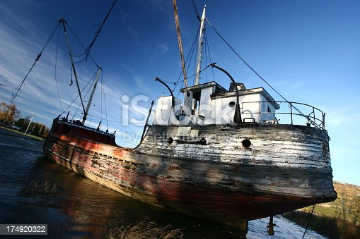istock Wrecked Boat 174920322