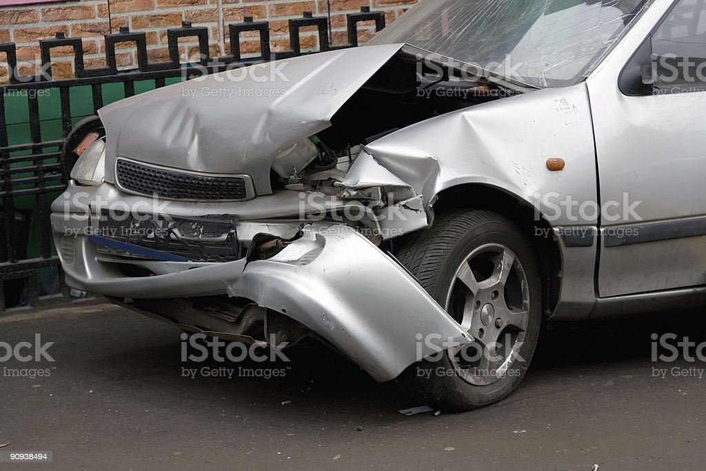 Wrecked Car 1 stock photo