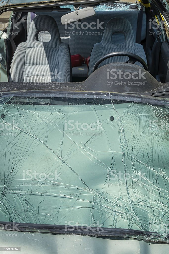 Wrecked Car Stock Photo - Download Image Now - iStock